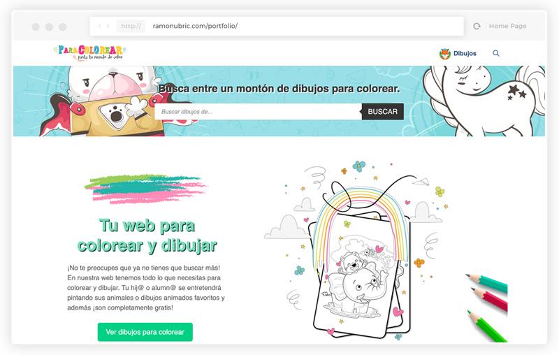 Diseño web wordpress dibujos para colorear