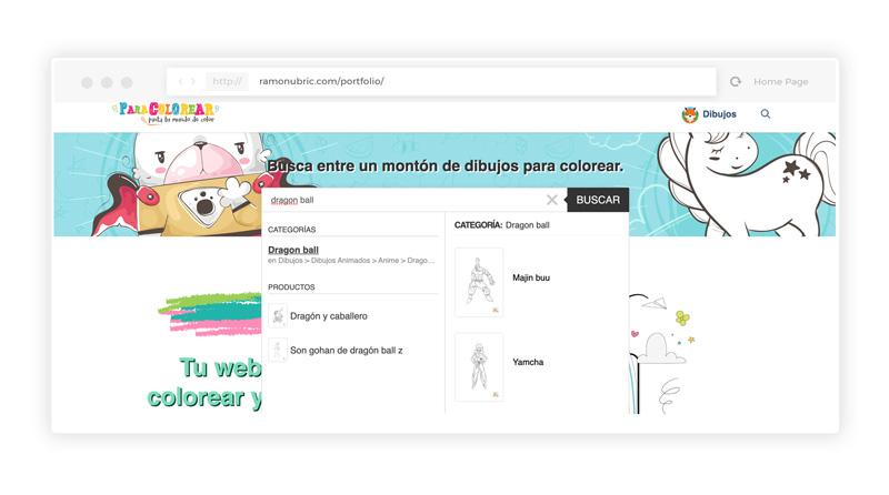 web de dibujos para colorear
