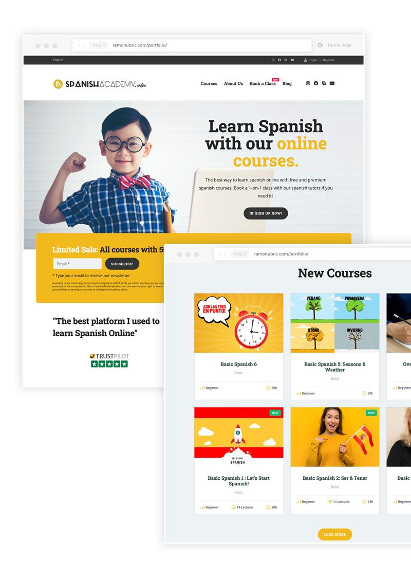 diseño de academia web