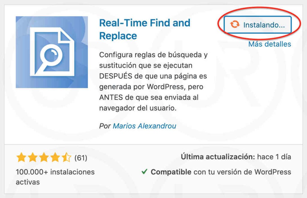 real-time find and replace