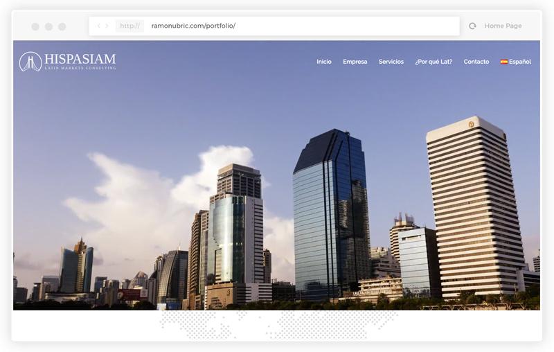 Trabajo de diseñador web freelance para consultoria de mercados