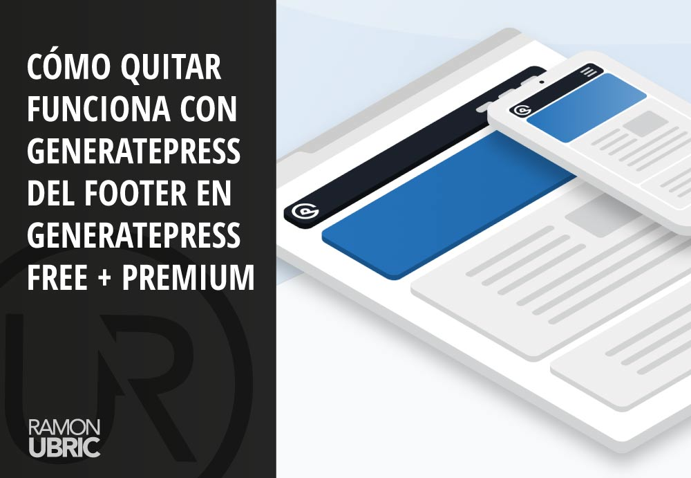 quitar funciona con generatepress copyright